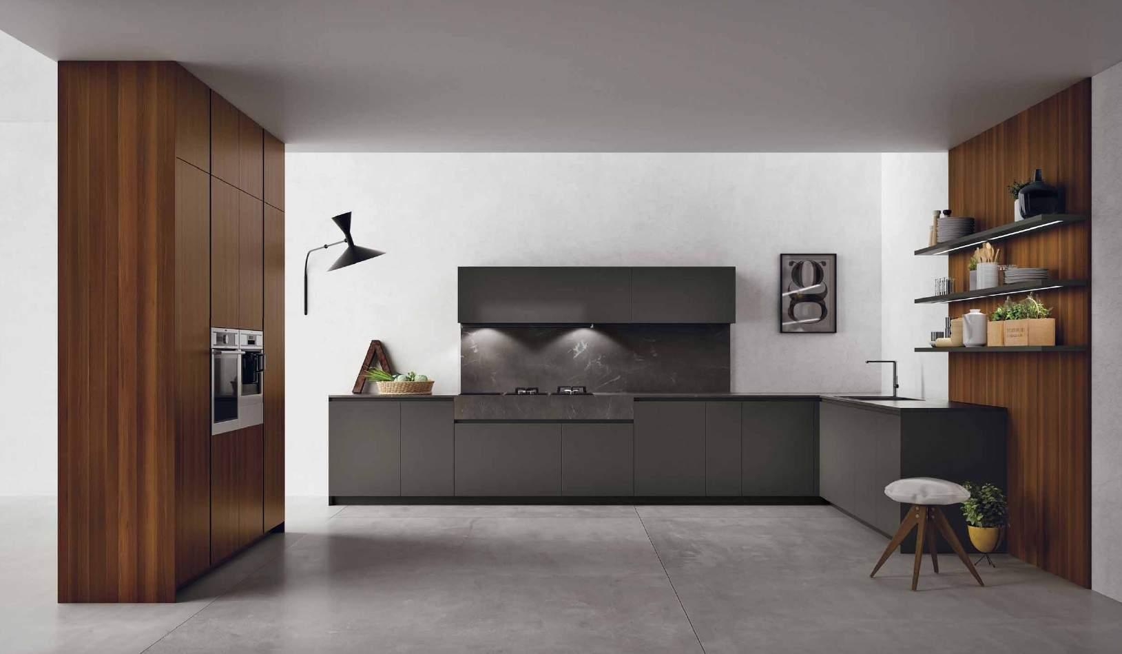 Doimo cucine e il nuovo modello materia teti arredamenti for Cucina e roma